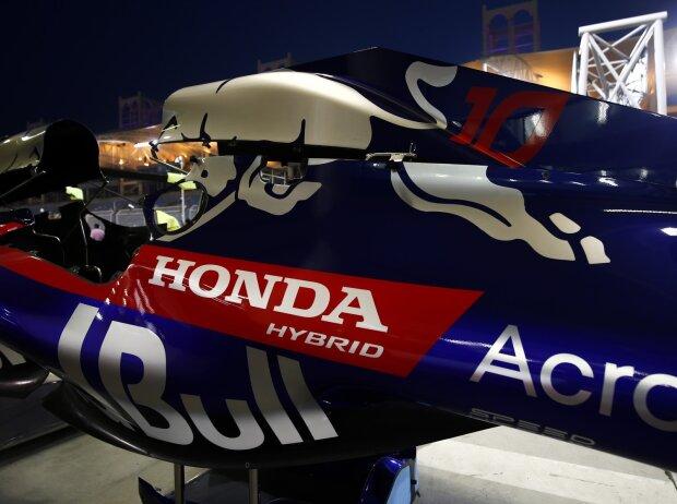 Motorhaube mit Honda-Logo