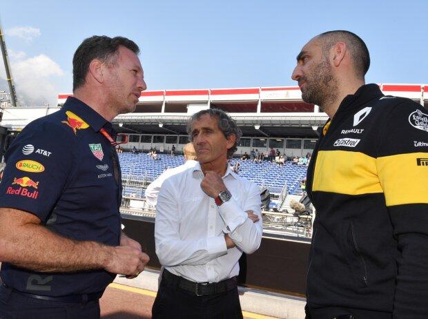 Christian Horner, Alain Prost, Cyril Abiteboul