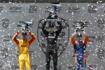 Josef Newgarden (Penske), Ryan Hunter-Reay (Andretti) und Scott Dixon (Ganassi)