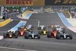 Lewis Hamilton (Mercedes), Valtteri Bottas (Mercedes), Sebastian Vettel (Ferrari), Max Verstappen (Red Bull) und Daniel Ricciardo (Red Bull)