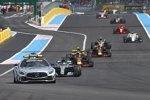 Lewis Hamilton (Mercedes), Max Verstappen (Red Bull) und Daniel Ricciardo (Red Bull)
