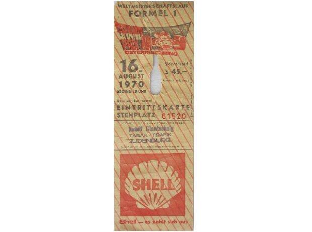 Ticket, Zeltweg 1970