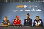 Kevin Magnussen (Haas), Kimi Räikkönen (Ferrari), Daniel Ricciardo (Red Bull) und Sergei Sirotkin (Williams)