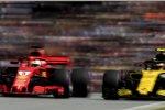 Sebastian Vettel (Ferrari) und Carlos Sainz (Renault)