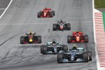 Valtteri Bottas (Mercedes), Lewis Hamilton (Mercedes), Max Verstappen (Red Bull), Kimi Räikkönen (Ferrari), Romain Grosjean (Haas) und Sebastian Vettel (Ferrari)