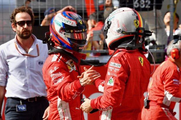 Kimi Räikkönen Sebastian Vettel Ferrari Scuderia Ferrari F1 ~Kimi Räikkönen (Ferrari) und Sebastian Vettel (Ferrari) ~