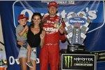 Kyle Busch (Gibbs) mit Ehefrau Samantha und Sohn Brexton