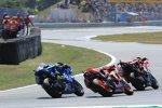 Jorge Lorenzo (Ducati), Marc Marquez (Honda) und Alex Rins (Suzuki)
