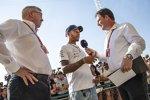 Lewis Hamilton (Mercedes) und Ross Brawn