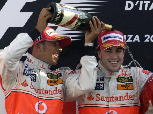 Monza 2007: Lewis Hamilton und Fernando Alonso
