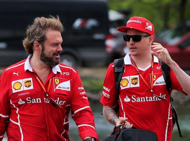 Gino Rosato und Kimi Räikkönen