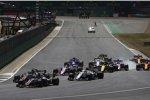 Kevin Magnussen (Haas), Romain Grosjean (Haas), Charles Leclerc (Sauber), Sergio Perez (Force India) und Nico Hülkenberg (Renault)