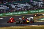 Max Verstappen (Red Bull), Kimi Räikkönen (Ferrari) und Daniel Ricciardo (Red Bull)