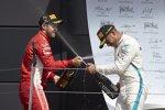 Sebastian Vettel (Ferrari) und Lewis Hamilton (Mercedes)