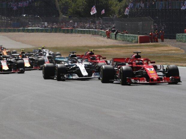 Sebastian Vettel, Lewis Hamilton, Valtteri Bottas, Kimi Räikkönen, Daniel Ricciardo