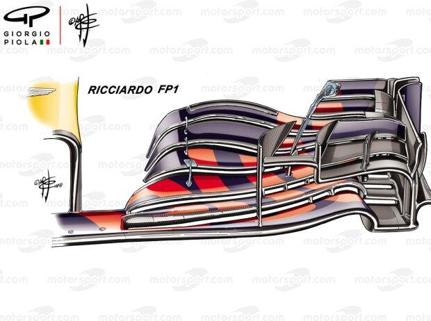 Frontflügel an Daniel Ricciardos Red Bull RB14
