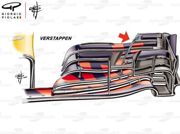 Frontflügel an Max Verstappens Red Bull RB14