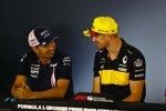 Sergio Perez (Force India) und Nico Hülkenberg (Renault)