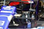 Vorderradaufhängung und Bremse des Toro Rosso