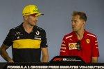 Nico Hülkenberg (Renault) und Sebastian Vettel (Ferrari)