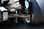 Diffusor des Mercedes