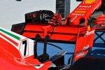 Heckflügel des Ferrari