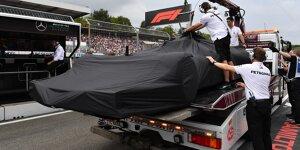 So hatte sich Lewis Hamilton das Ende seines Qualifyings nicht vorgestellt