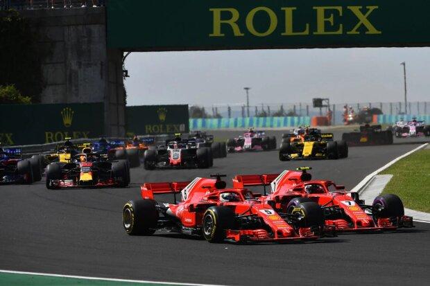 Sebastian Vettel Kimi Räikkönen Ferrari Scuderia Ferrari F1 ~Sebastian Vettel (Ferrari) und Kimi Räikkönen (Ferrari) ~