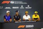 Pierre Gasly (Toro Rosso), Daniel Ricciardo (Red Bull), Fernando Alonso (McLaren) und Carlos Sainz (Renault)