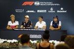 Marcus Ericsson (Sauber), Max Verstappen (Red Bull), Stoffel Vandoorne (McLaren) und Lance Stroll (Williams)