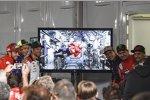 Andrea Dovizioso (Ducati), Cal Crutchlow (LCR), Marc Marquez (Honda), Jorge Lorenzo (Ducati) und Alvaro Bautista (Angel Nieto)