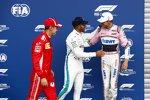 Sebastian Vettel (Ferrari), Esteban Ocon (Racing Point) und Lewis Hamilton (Mercedes)