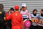 Sebastian Vettel (Ferrari) und Esteban Ocon (Racing Point)
