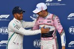 Lewis Hamilton (Mercedes) und Esteban Ocon (Racing Point)