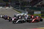 Lewis Hamilton (Mercedes), Sebastian Vettel (Ferrari), Sergio Perez (Racing Point), Esteban Ocon (Racing Point), Romain Grosjean (Haas) und Nico Hülkenberg (Renault)