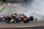 Fernando Alonso (McLaren), Charles Leclerc (Sauber) und Nico Hülkenberg (Renault)