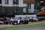 Lewis Hamilton (Mercedes), Sebastian Vettel (Ferrari), Sergio Perez (Racing Point), Esteban Ocon (Racing Point) und Romain Grosjean (Haas)