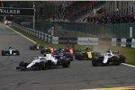 Marcus Ericsson (Sauber), Sergei Sirotkin (Williams), Lance Stroll (Williams) und Carlos Sainz (Renault)