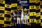 Marco Simoncelli, Joel Eriksson (RBM-BMW) und Edoardo Mortara (HWA-Mercedes)