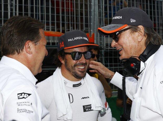 Zak Brown, Karim Ojjeh, Fernando Alonso