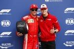 Kimi Räikkönen (Ferrari) und Mick Schumacher