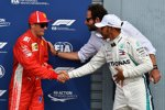 Kimi Räikkönen (Ferrari) und Lewis Hamilton (Mercedes)