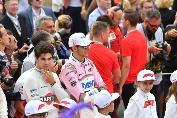 Lance Stroll Esteban Ocon Force India Sahara Force India F1 Team F1Williams Williams Martini Racing F1Racing Point Racing Point Force India F1 Team (Ex-Force India) ~Lance Stroll (Williams) und Esteban Ocon (Racing Point) ~