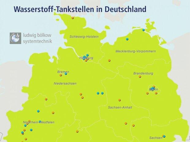Wasserstofftankstellen in Norddeutschland - Stand Januar 2018