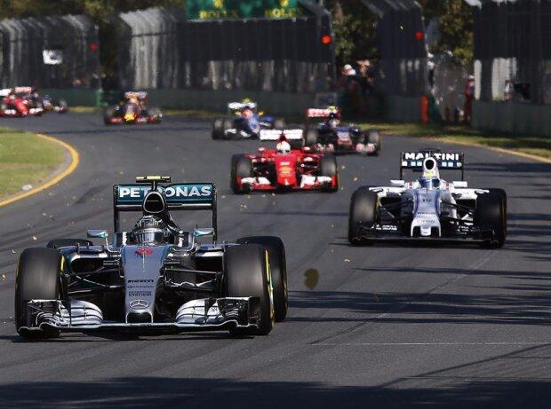 Nico Rosberg, Felipe Massa, Sebastian Vettel