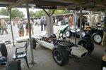 Dieser Lotus-BRM 24 von 1962 ließ die Hüllen fallen und gab so einen vorzüglichen Blick auf die Technik frei.