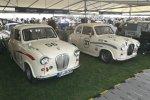 Von 1956 bis 1968 baute Austin den winzigen A35. Bis zu 48 PS trieben die Limousine an. Diese beiden flotten Zwerge (darunter einer aus Deutschland) dürften etwas optimiert worden sein.