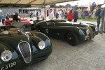 British Racing Green: Diese modifizierten Jaguar XK 120 verzichten auf eine Windschutzscheibe.