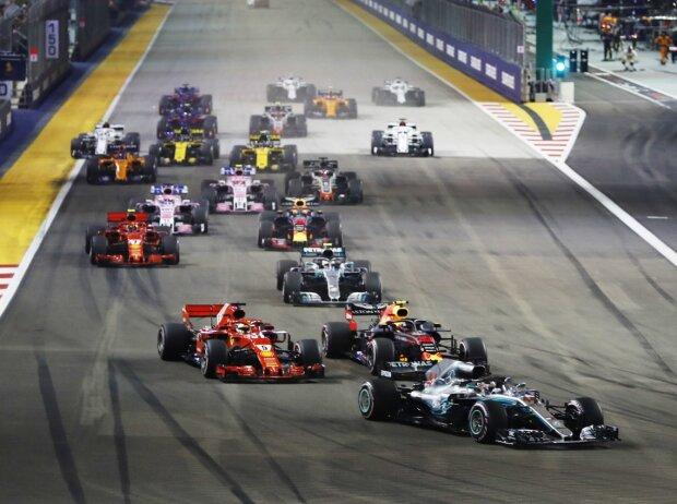 Lewis Hamilton, Max Verstappen, Sebastian Vettel
