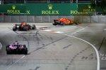 Sergio Perez (Racing Point), Daniel Ricciardo (Red Bull) und Kimi Räikkönen (Ferrari)